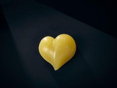 Luxury Soap Bliss Love Heart Closeup