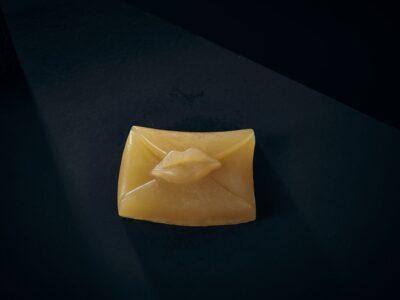 Luxury Soap Devotion Kiss Letter Closeup