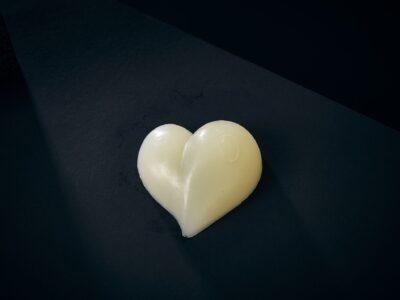 Luxury Soap Purity Love Heart Closeup